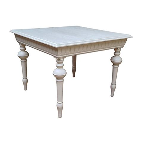shabby chic french style solid mango wood french grey finish dining table four seater dining