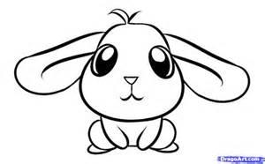 Gensther Tattoo Cute Anime Rabbit sketch template