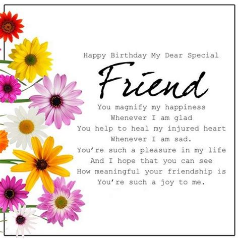 Happy Birthday To A Special Cousin by 40 Birthday Wishes For Special Friend Wishesgreeting