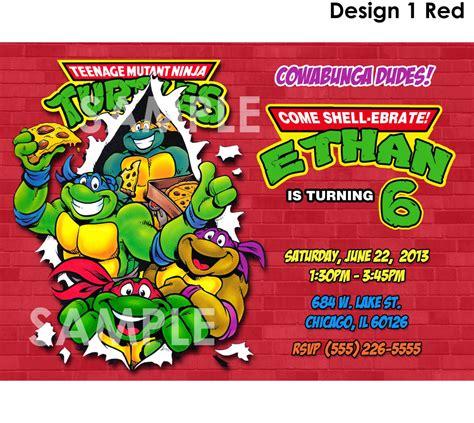 printable birthday cards ninja turtles teenage mutant ninja turtles invitation printable tmnt