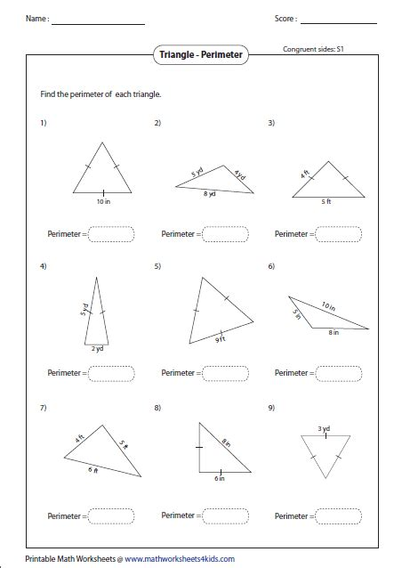 triangle worksheets for 2nd grade second grade area and perimeter worksheets homeshealth info
