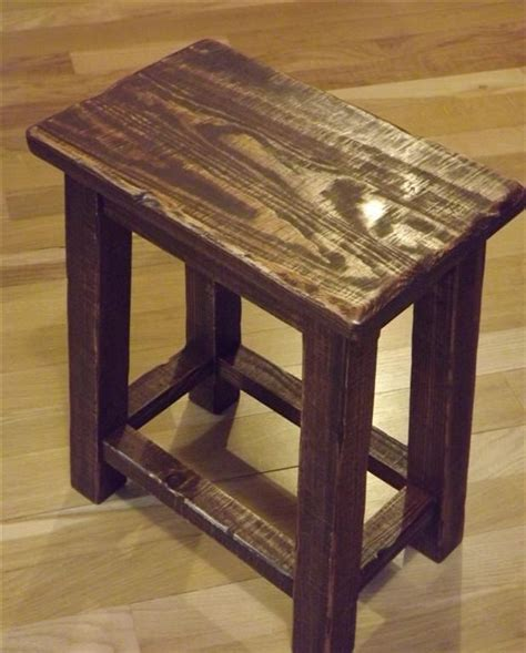 One Leg Rocking Garden Stool by Rustic Reclaimed Wood Farmhouse Stool Sitting Stool