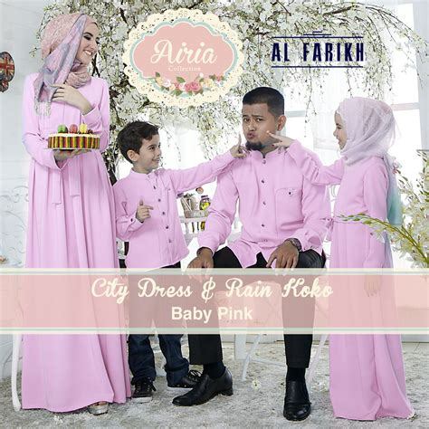 Airia Soft Purple Koko City Dress city dress baby pink baju muslim gamis modern