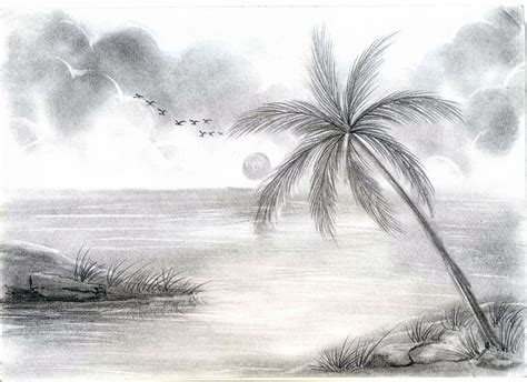 Photos And Sketches by Pencil Sketches Of Scenery Cool Scenery Drawing