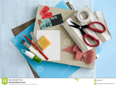 greeting card supplies for craft and card stationary supplies stock photo image