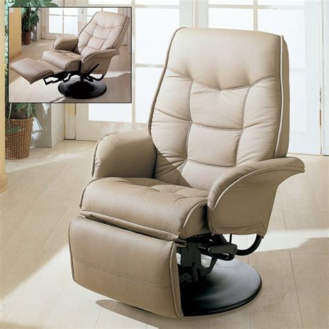 recliner shop shop coaster fine furniture beige faux leather recliner at