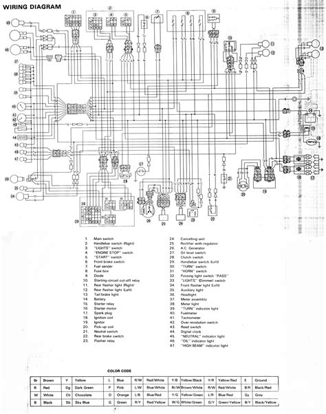 yamaha xj 900 wiring diagram wiring diagram