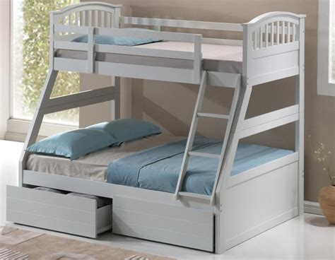 Three Sleeper Bunk Bed by Artisan Three Sleeper White Beds The Bed Post
