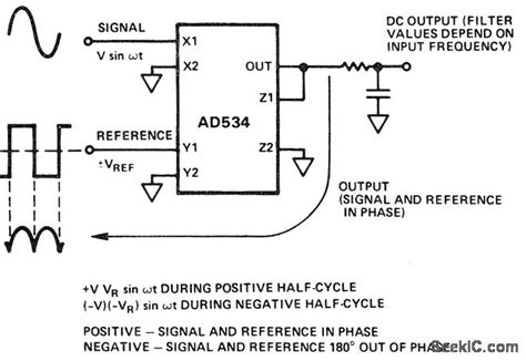 phase detector circuit diagram phase sensitive detector with square wave reference