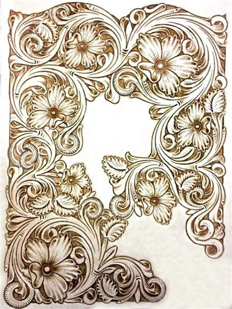 drawing pattern on leather 17 best images about leather carving patterns on pinterest