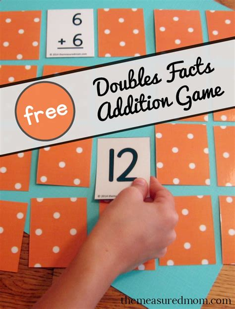 doubles flashcards printable free addition game for the doubles facts the measured mom
