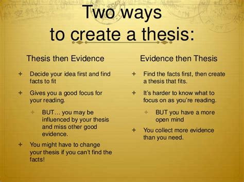 creating a thesis introduction to thesis statements high school