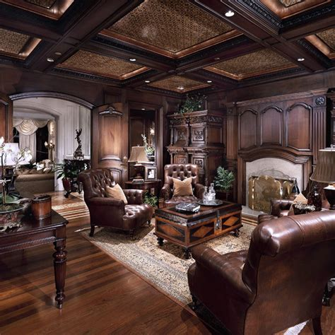 chateau samara traditional home office orange county