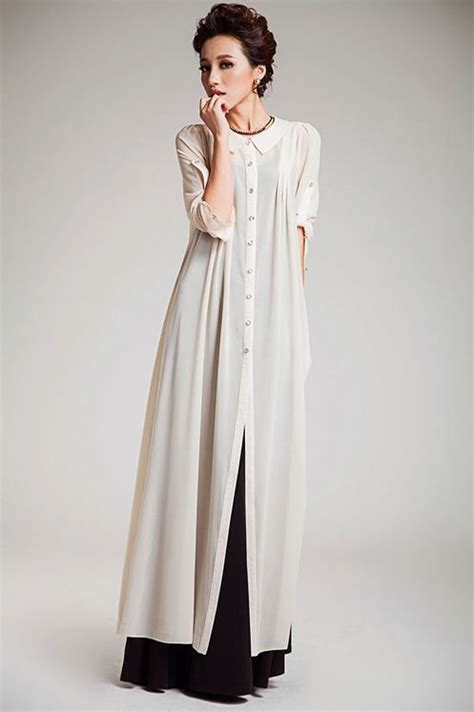 26731 White Oversize Dress Dress Putih black and white formal or casual for