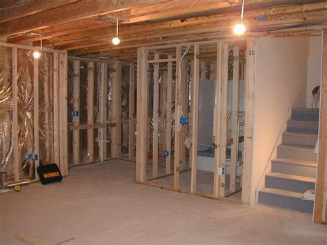 finishing a basement framing