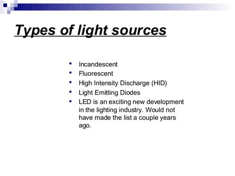 types of light sources ebc lighting sources 1