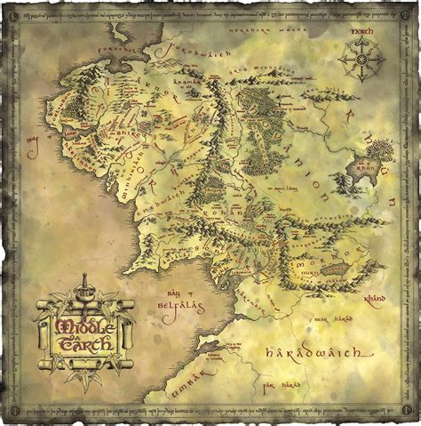map of middle earth tolkien woodge maps collection