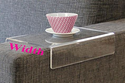 anabelle clear acrylic arm rest caddy arm tray table