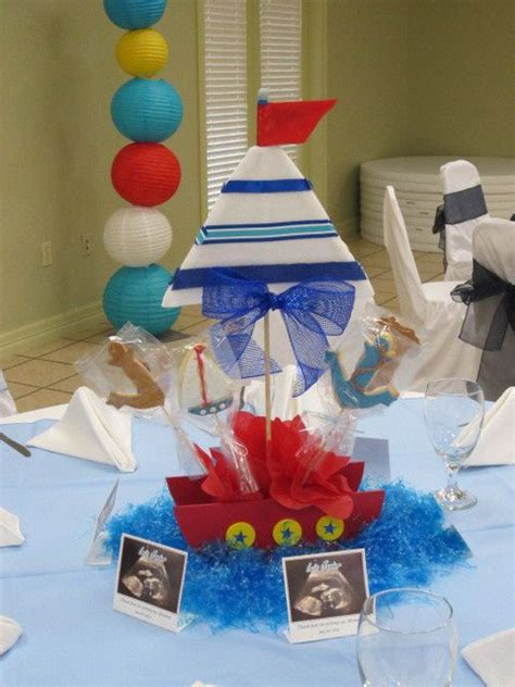 Sailboat Centerpieces Baby Shower by Best 25 Sailor Baby Ideas On