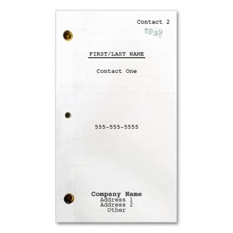Screenwriter Business Card Templates by Screenwriter Business Card Wood Texture Business Card