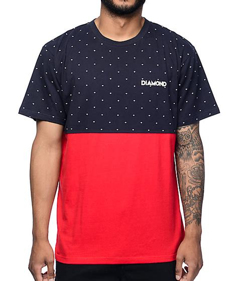 color block t shirt supply co deco navy colorblock t shirt