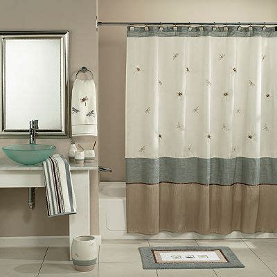 Kohls Bathroom Shower Curtains Home Classics 174 Shalimar Dragonfly Fabric Shower Curtain Bathrooms Decor Flies And Towels
