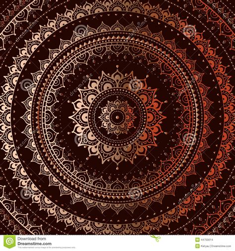 gold indian pattern gold mandala stock vector image 44755614