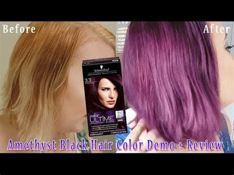 black amethyst hair color schwartzkopf quot amethyst black quot on hair dye demo