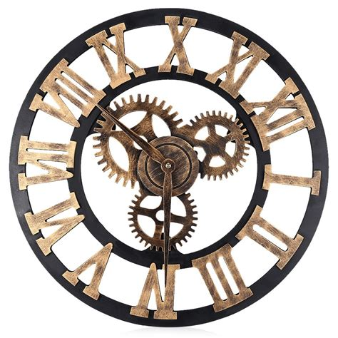 decorative wall clock 17 7 inch digital wall clocks design 3d large retro
