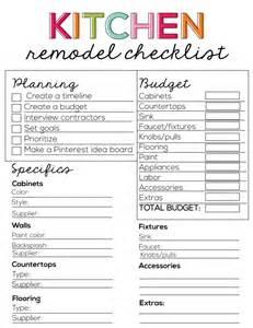 Kitchen Checklist For First Home kitchen remodel checklist kitchens