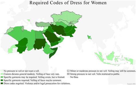 middle east muslim map muslim dress code laws by country in the middle east and