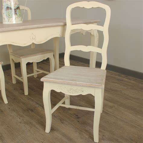 large dining table and 6 chairs set kitchen shabby