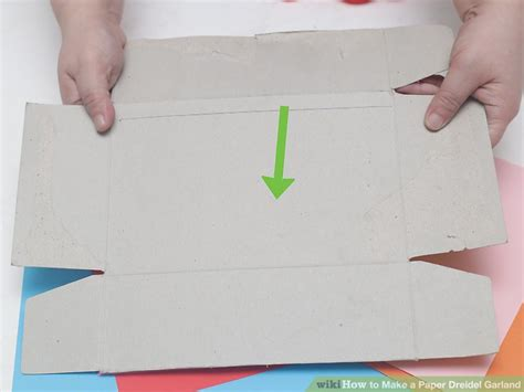 How To Make A Paper Dreidel - how to make a paper dreidel garland 11 steps with pictures