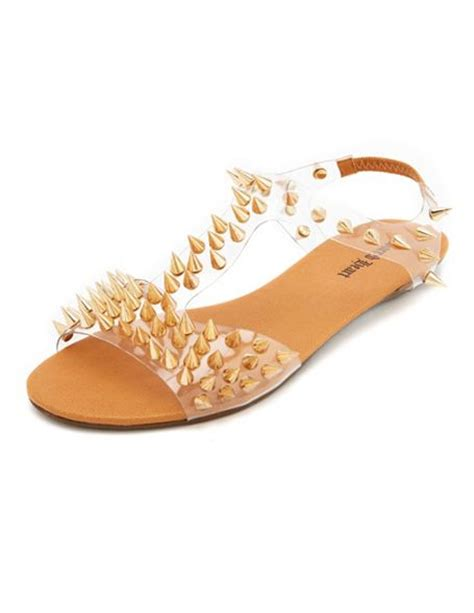 russe sandals clear spiked t sandal russe