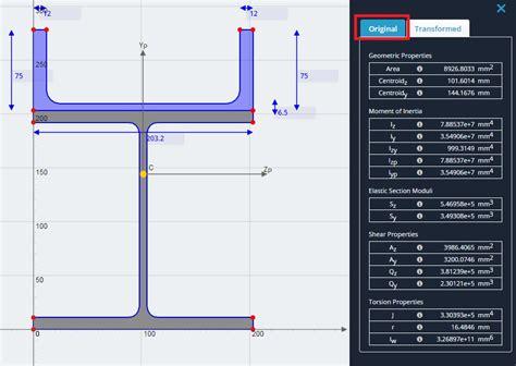 composite section properties calculator composite results skyciv documentation
