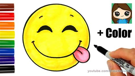 But Draw Happy Faces On Them D Some Other - how to draw a silly happy emoji with coloring easy