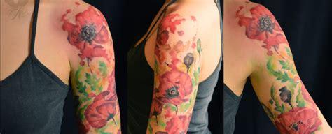 quarter sleeve watercolor tattoo tattoos nancy skin amsterdam