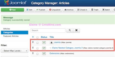 tutorial for joomla 3 3 joomla 3 tutorial how to create nested article categories