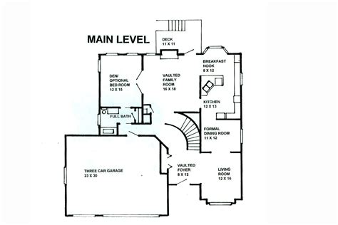 main level floor plans cs main level plan