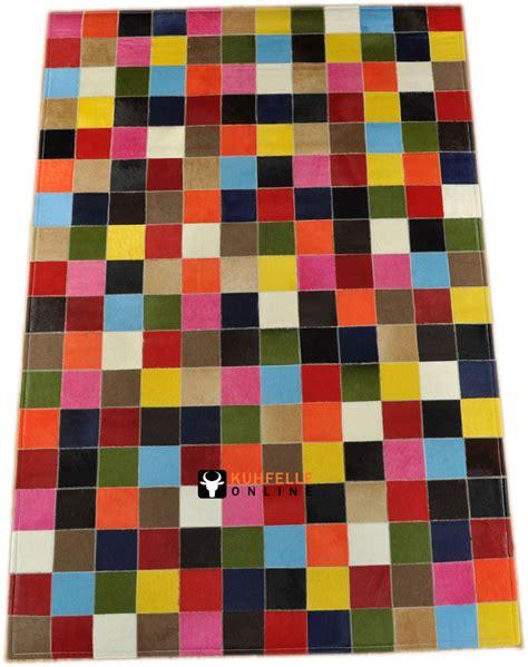 teppiche bunt exklusiver kuhfell teppich patchwork bunt 120 x 180 cm