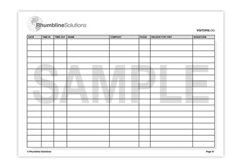 best photos of visitors log sheet printable visitor sign