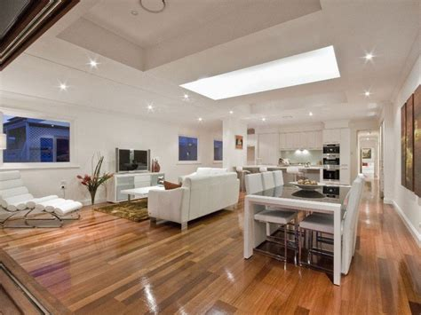 living and kitchen design modern kitchen living kitchen design using floorboards