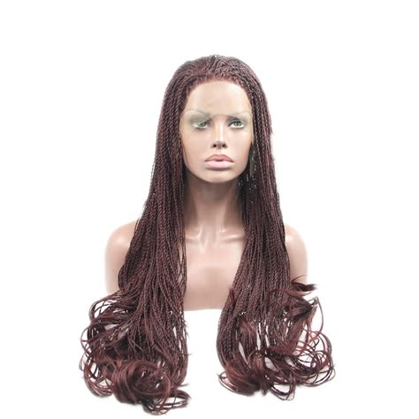 braid wigs for black women 2015 new fashion braid synthetic lace front wigs for black