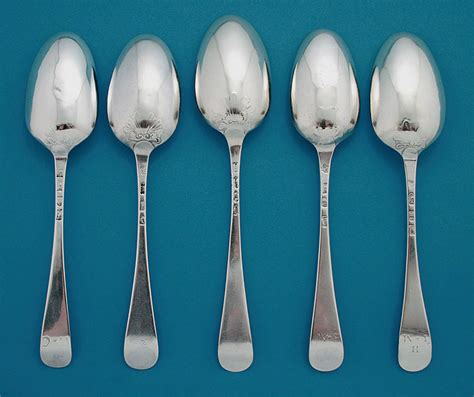 Table Spoons To Ounces by George Ii Silver Scroll Back Shell Back Tablespoons M