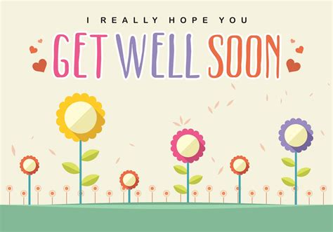 greeting cards word templates get well get well soon card vector free vector