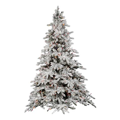 7 5 foot flocked utica fir christmas tree multi colored