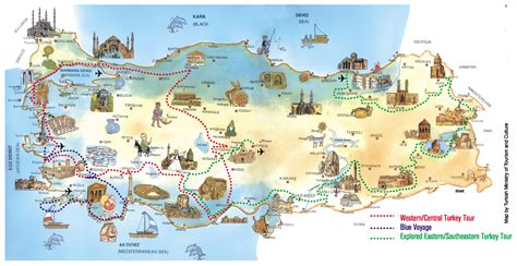 map of tourist detailed travel map of turkey turkey detailed travel map