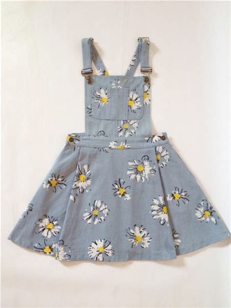 Printed Denim Pinafore Dress when gives you lemons bright colors and patterns