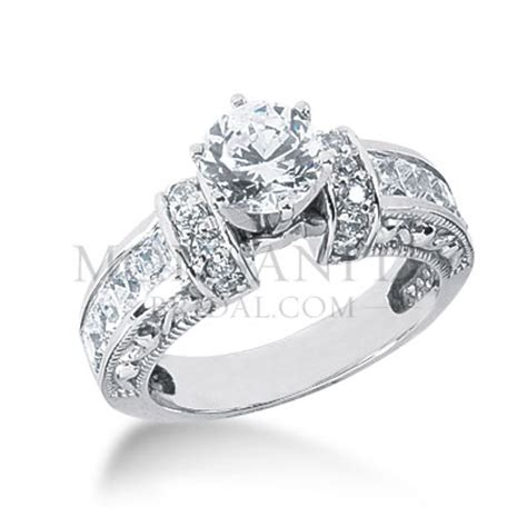 antique style gorgeous moissanite engagement ring www