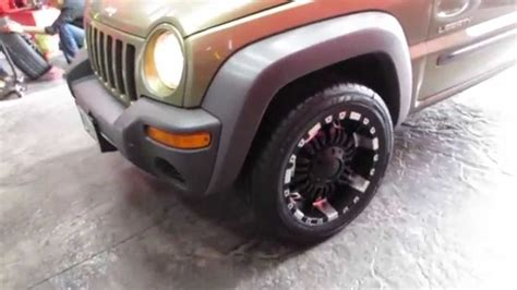 silver jeep liberty with black rims hillyard custom tire 2004 jeep libert with 18 inch